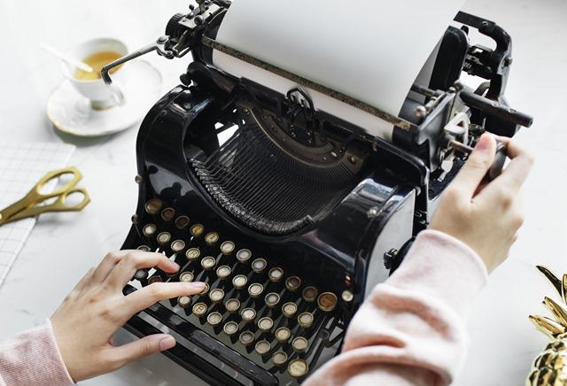 Machine à écrire - fini les fautes